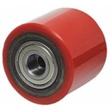 Ролик полиуретановый с подшипником 80х70 мм
